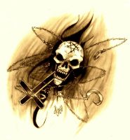 Skull from hell by violencejack666