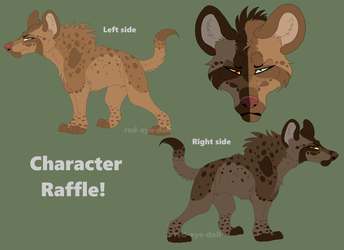 Character Raffle| Hyena Queen by red-eye-doll