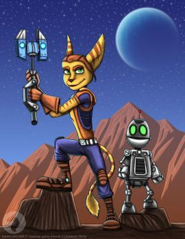 Ratchet And clank by BlueRavenfire