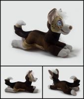Sharp Plushie Commission by WispyChipmunk