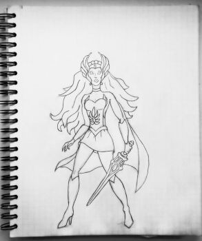 She-Ra drawing by WowVital