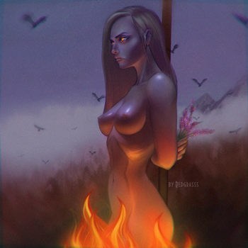 Samhain.girl.fire by RedGrasss