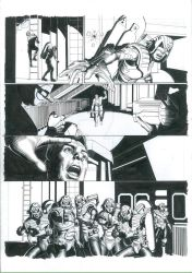 Storm Warning: The Relic Part 4 P4 Original Inks by TomRFoster