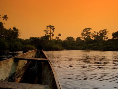 African sunset by grim86