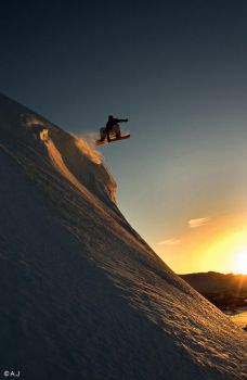 Snowboard - Sunset indy by ajonsaas
