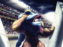 Machamp uses Neckbreaker