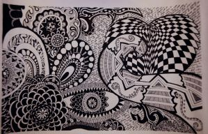 Zentangle by iheartart132