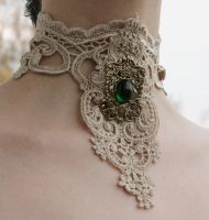Royal Steampunk choker by Pinkabsinthe