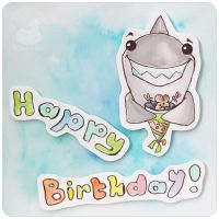 Birthday shark by Keila-the-fawncat