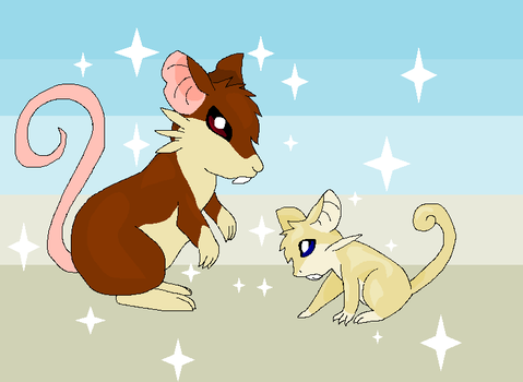 Shiny Raticate and Rattata by PhycoTeddy000