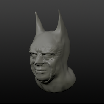 Batman Mask in Sculptris by TheDoLittle
