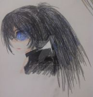 Black Rock Shooter doodle by nanayaryuoo