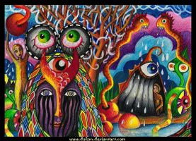 Cold tears in rainbow eyes by dokon