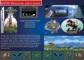 Horizon Zero Dawn Game Boy Advance Publicidad by LOrdalie