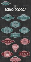 18 Retro Badges - Mix and Match Vintage Labels by gojol23
