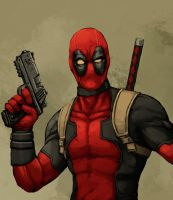 Deadpool speed painting video by FonteArt