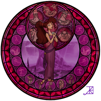 Stained Glass: Meg by Akili-Amethyst