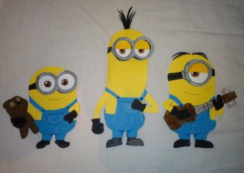 Paper Characters:  Minions by JustSomePainter11