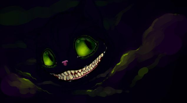 Cheshire Cat by nightgrowler