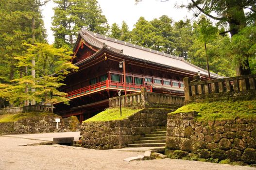 Red Temple in Nikko Forest by AndySerrano