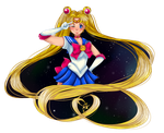 Fighting evil by moonlight! by Lexpuya