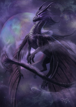 Galaxy dragon by jamipainter