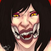 Ravenous Mileena by GreySundayMorning