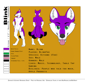 Blink Reference Sheet by NaeglingKitsune