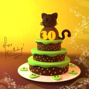 MyntKat Birthday Cake by JuanCSilva