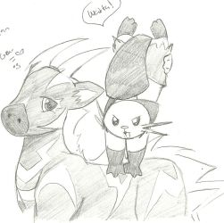 PKMN B and W Doodles 5 by Kurofaikitty