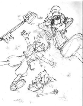 Kingdom Hearts Pencil by babalisme
