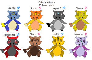 Cubone adopts by Kingofphotos200