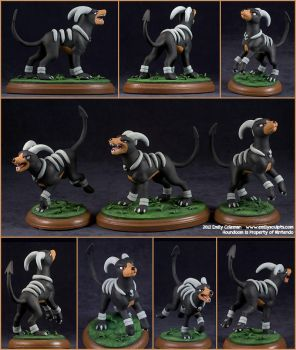 Commission : A Trio of Houndooms by emilySculpts