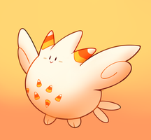 Candycorn Egg by HappyCrumble