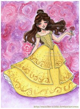 Belle Sketch Beauty and the Beast by yamiko-michi