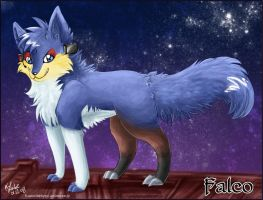 Falco Lombardi as fox by Pharaonenfuchs