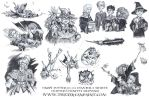 Harry Potter: Book 2 Chapter 6 Vignette Drawings by TheGeekCanPaint