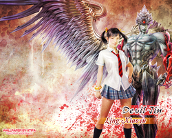 Devil Jin and Xiaoyu wallpaper by ladylucienne