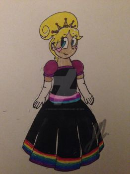 SUPER Late Pride Thing, Star Butterfly sharpie art