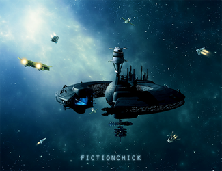 Space Station by FictionChick