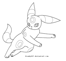 Umbreon template 2 by franky007