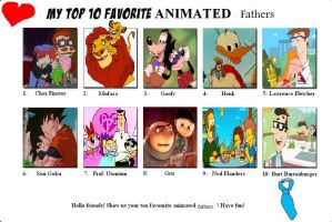 My Top Ten animated Fathers by Austria-Man