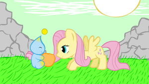 Fluttershy meets a new friend by RedEnchilada