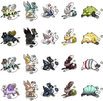 [All gone] DTA Snych / Rootalps / Dystbunnies by Itadakii