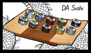 DA SUSHI ICONS TIEM 8D by Anarchpeace