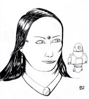 Girl and Bot by rcdg