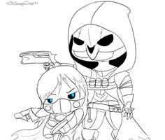 Reaper and Tiru -Team Werk by Tough-Turtle-Dragon