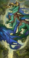 2016 Zodiac Dragons Taurus by The-SixthLeafClover