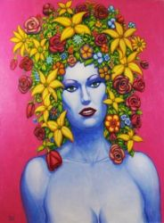 FLOWER GIRL 2 Original Contemporary Art PATTY by Sean-Patty