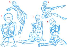 Draw with Me 10 Practising Poses (female) by mattwilson83